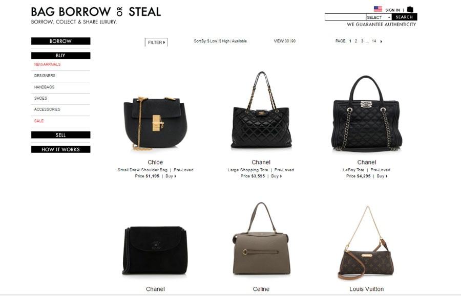 bag borrow or steal designer bags for less