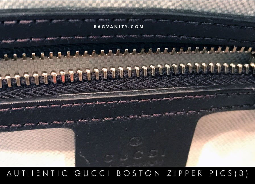 Gucci authenticity check -YKK zippers on the inside of a real Boston Doctor BAg