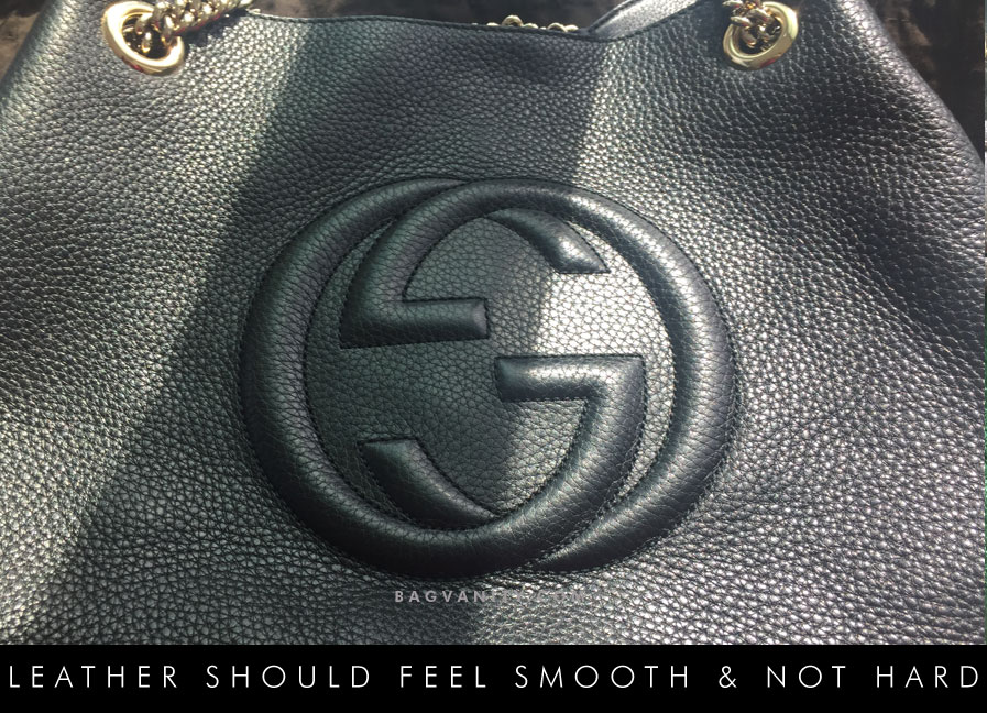 Real Gucci handbags are made from the finest leather,suede and exotic materials.
