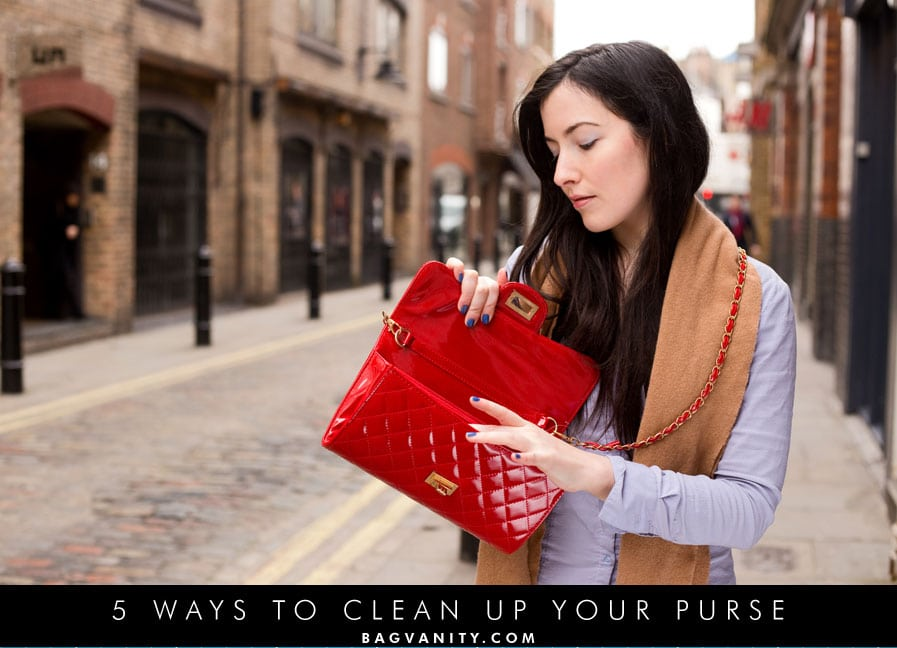 how to clean up your dirty handbags