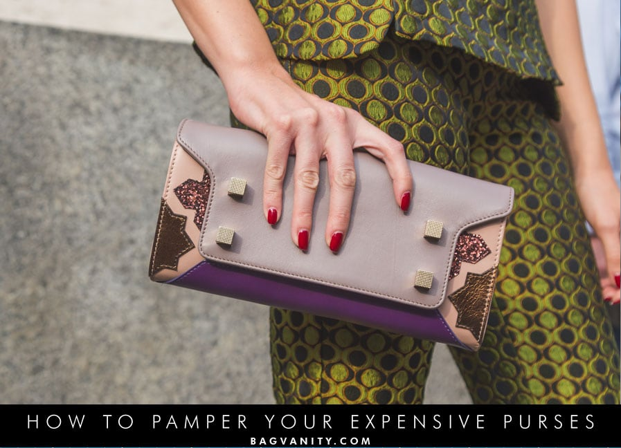 how to care for your designer handbags and purses