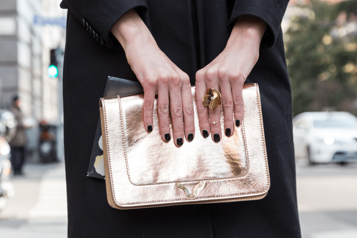 gold clutch purse