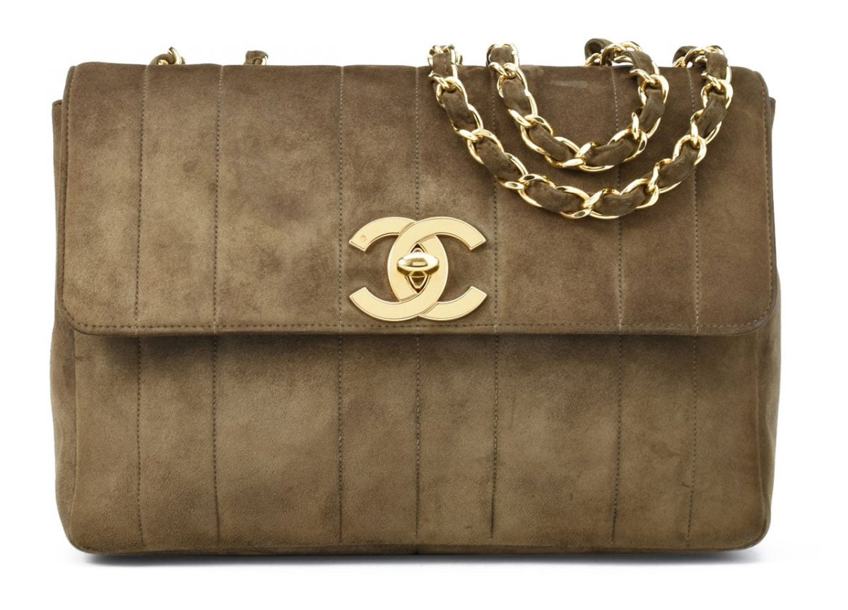 how to clean a chanel suede purse
