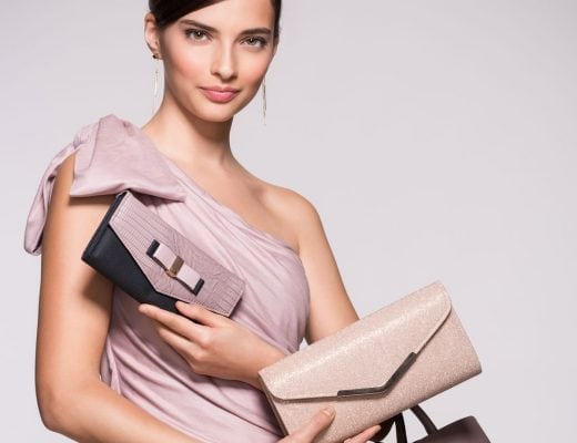 best purses to wear with a one-shoulder dress