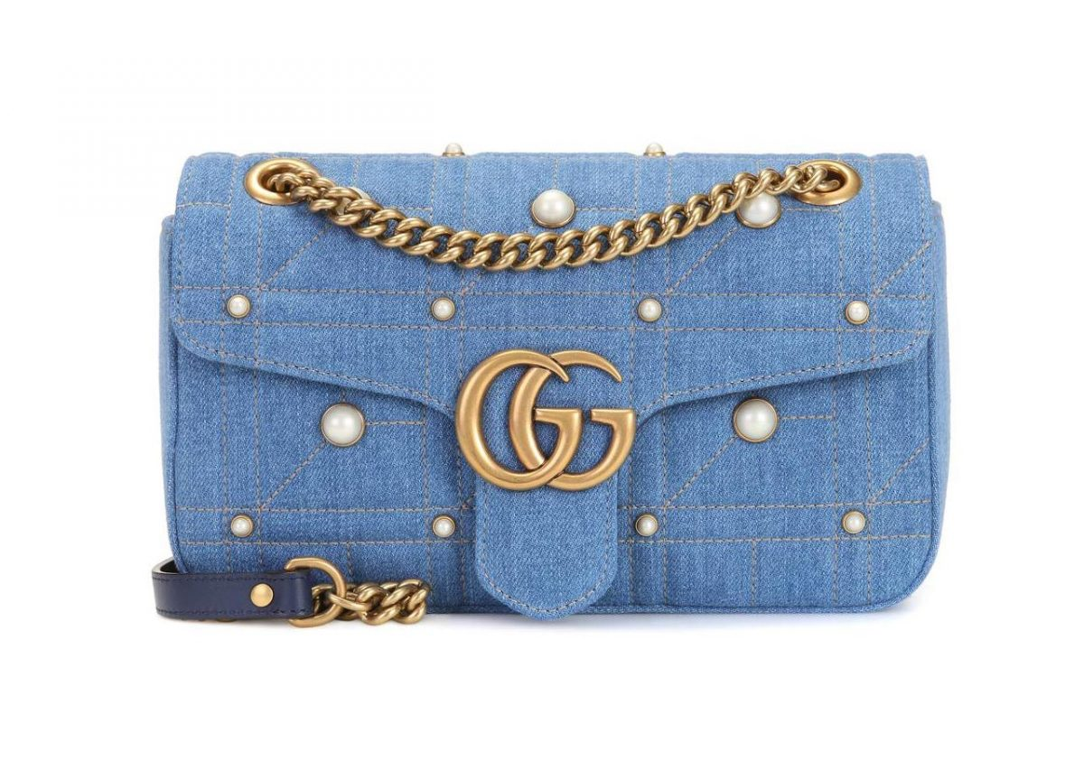 clean your Gucci GG Marmont Denim Mini Shoulder Bag